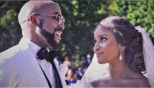 BBNaija: Banky W Watching Adesua Etomi In The BBNaija House